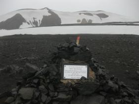 Lumi yllätti jalkailijan ensimmäisen päivämatkan loppupuolella